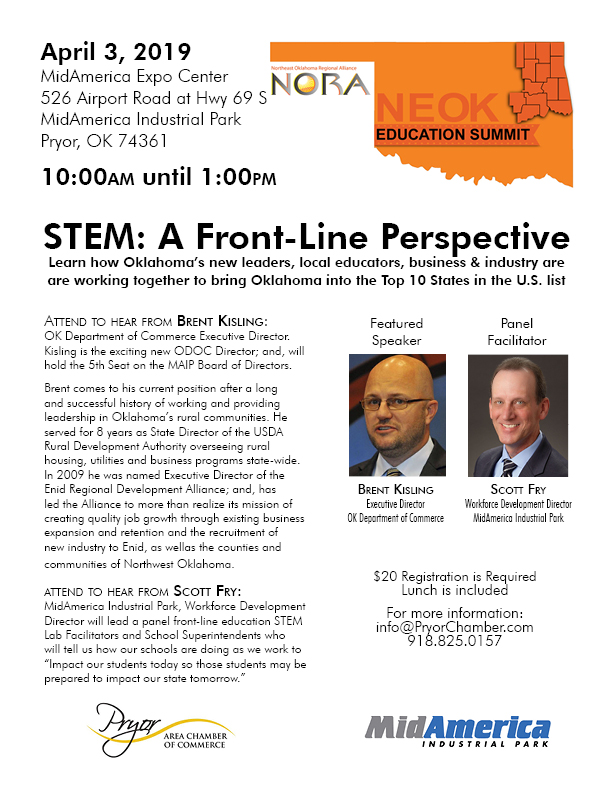Education Summit 2019   Northeast Oklahoma Regional Alliance